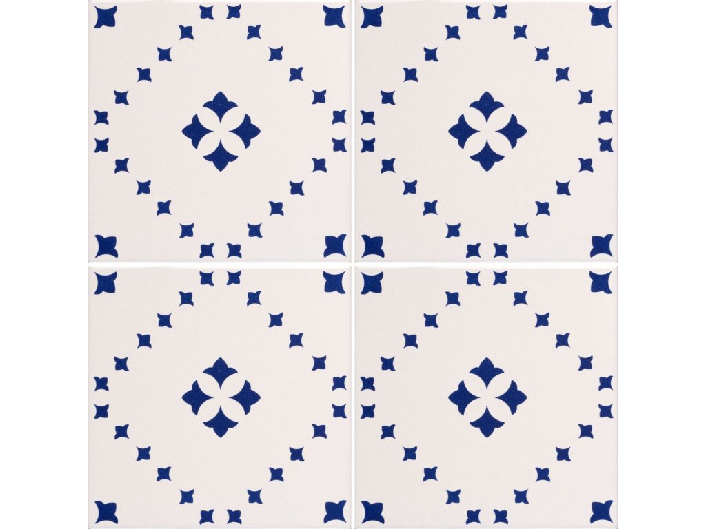 obklady rucne malovane modro bile dekor 01