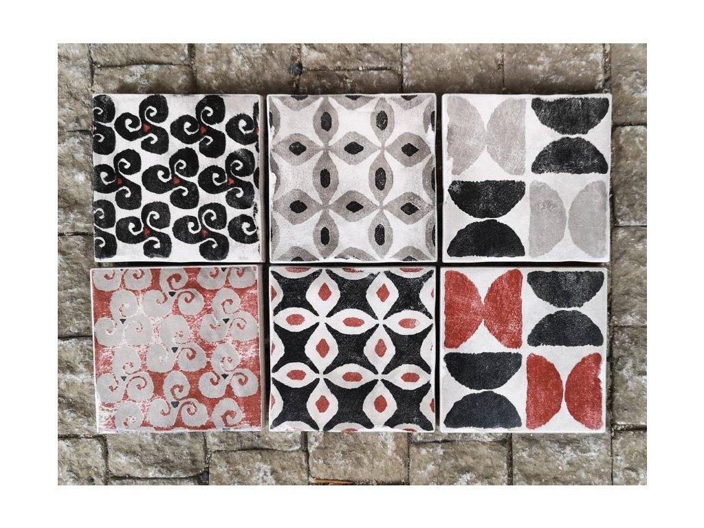 cir cotto vogue texture grigio 10x10 obklady retro rustikalni selske chalupu kuchyne koupelny