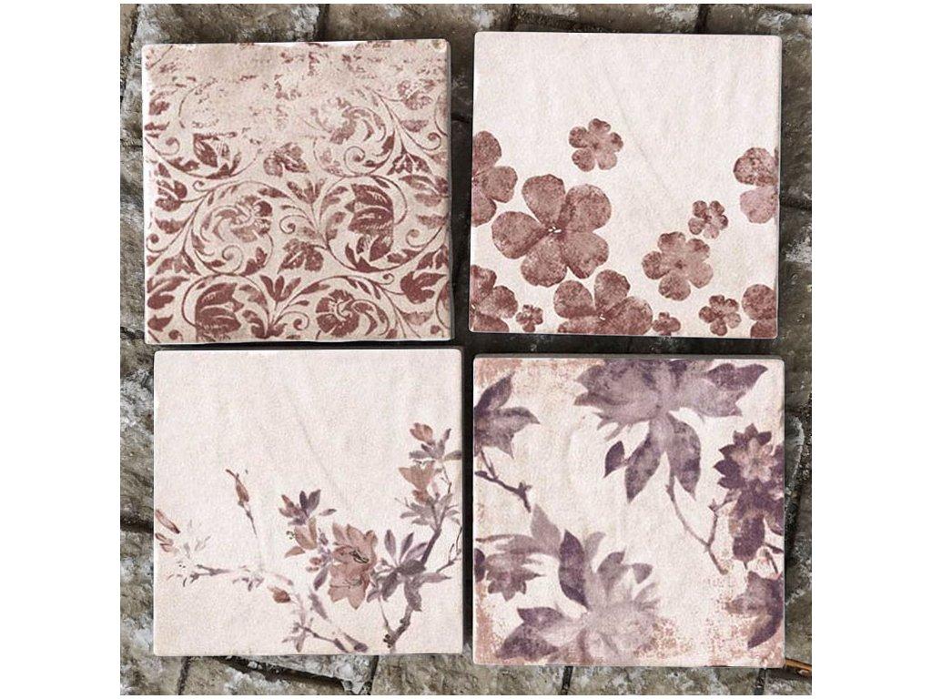 cotto vogue dlazba vintage rustikalni retro romanticka 10x10 fialove kvetiny