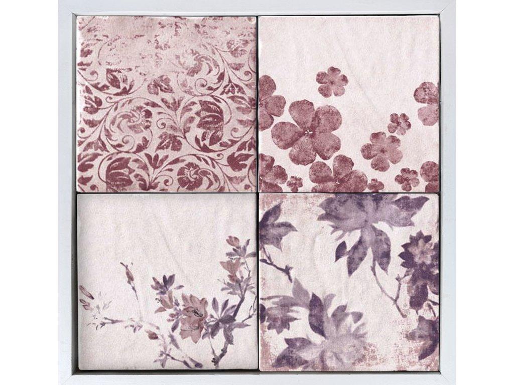 cotto vogue dlazba vintage rustikalni retro romanticka jardin sedy fialove kvetiny
