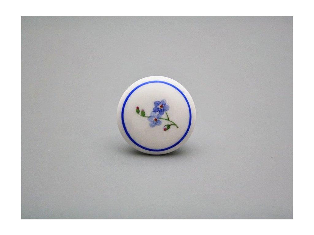 uchytka keramicka porcelanova nopka malovana pomnenka