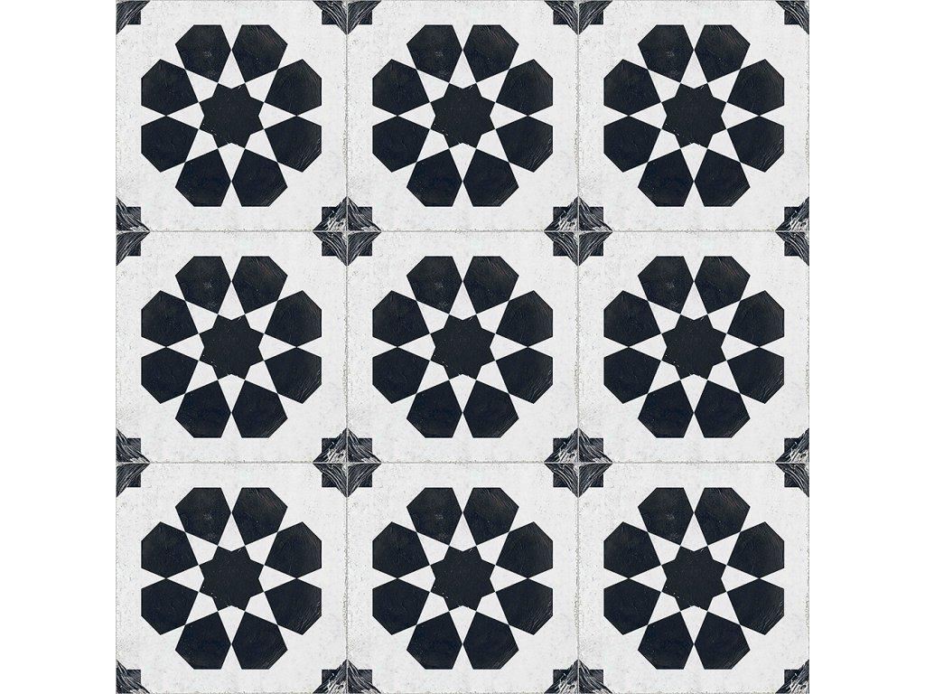 RE STYLE White Whell dekorovaná dlažba či obklad do interiéru