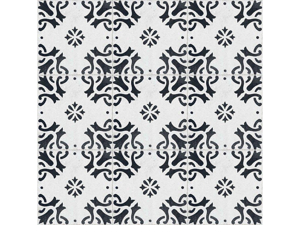 RE STYLE White Matrix dlažba či obklad s dekorem