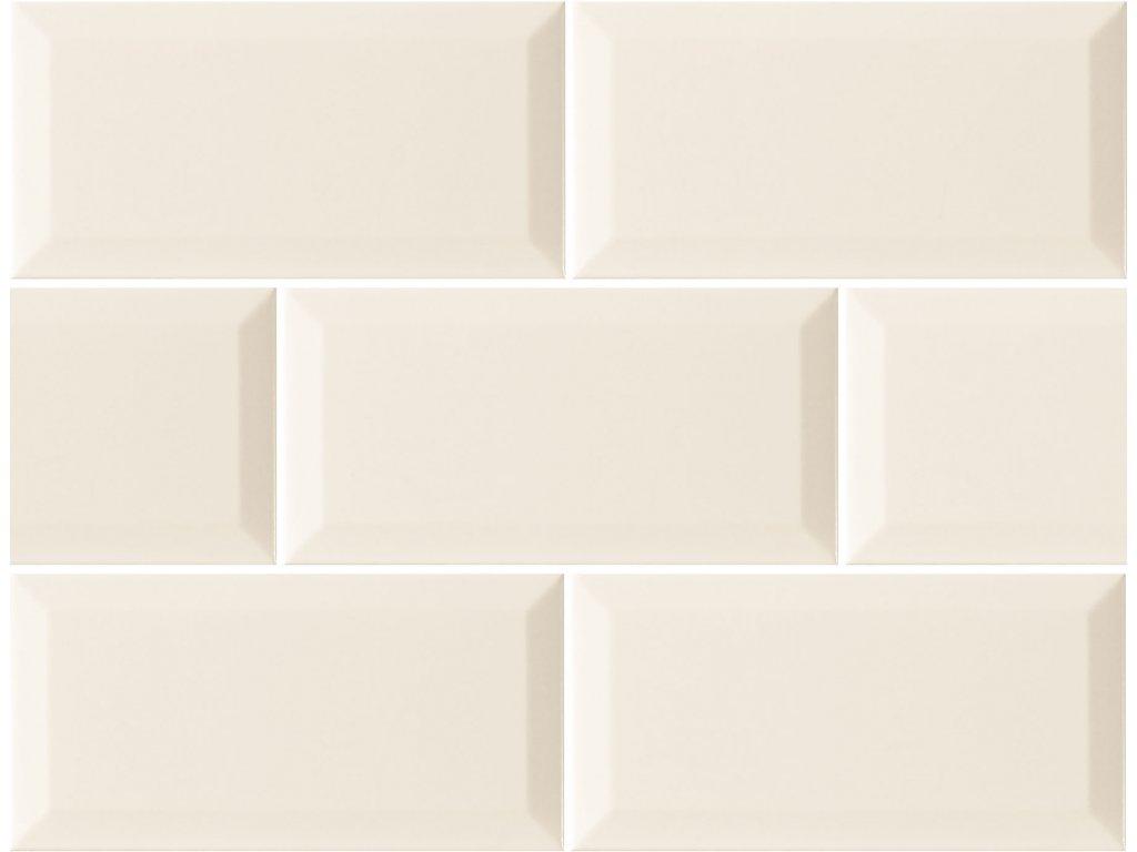 monocolor obklady jednobarevne 10x20 prolamovane skosene bezova marfil brillo bisel 02