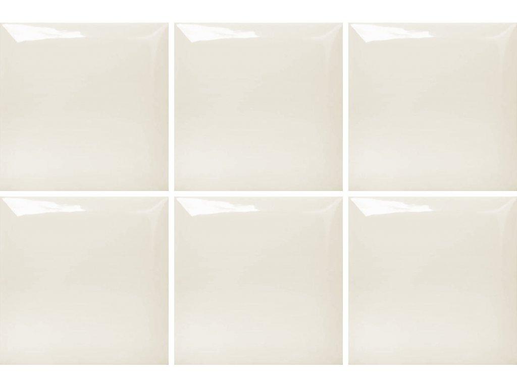 monocolor obklady jednobarevne 15x15 prolamovane skosene bezova marfil brillo bisel 02
