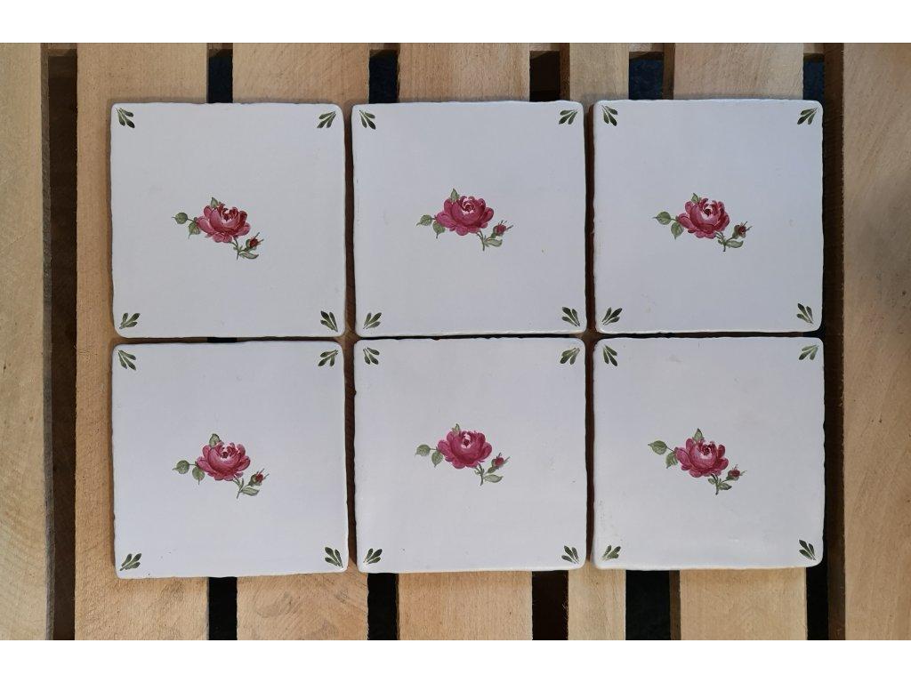 obklady rucne malovany ruzicka vinciobklady