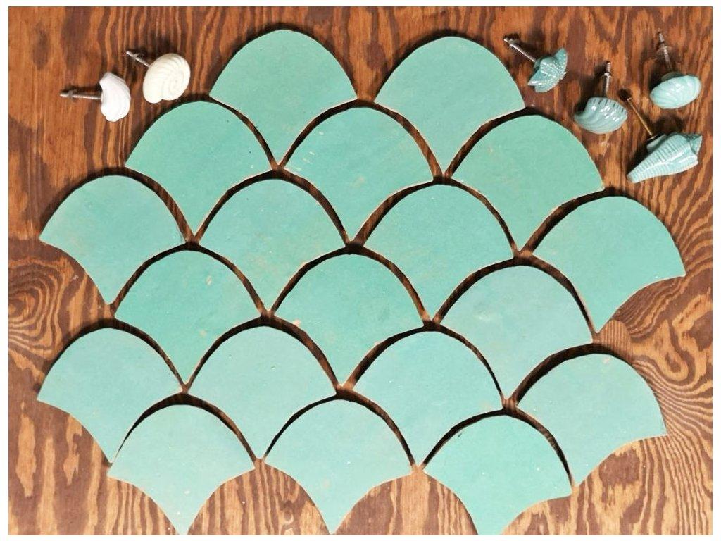 zellige obklady hlinene handmade glazovane jednobarevne hnede supiny