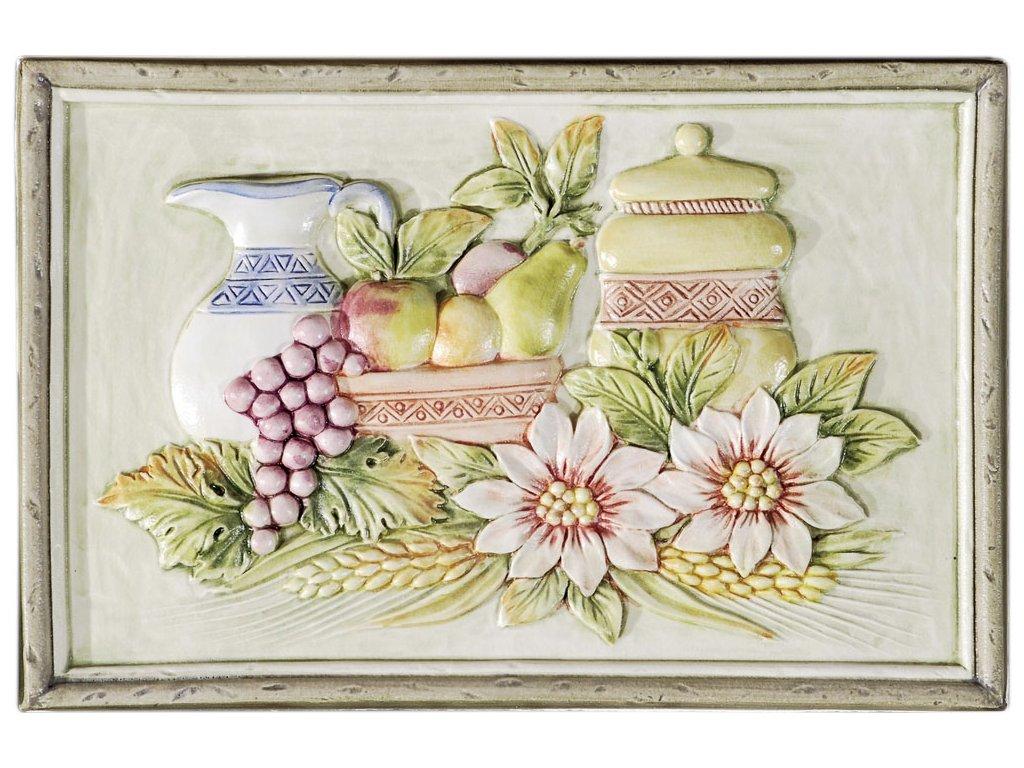 herberia ceramica Formella Fruttiera verde Matt 20x30