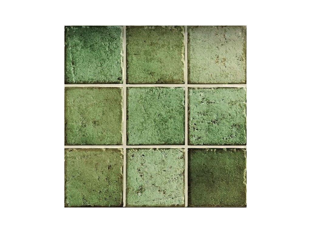 mistral verde dlazba obklady 10x10 rystikalni zelene 02