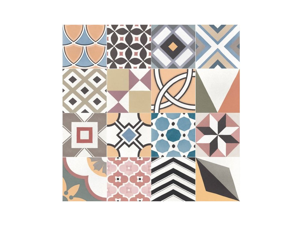 Deco Caprice Patchwork Colours 20x20 eschop@vinciprojekt.cz