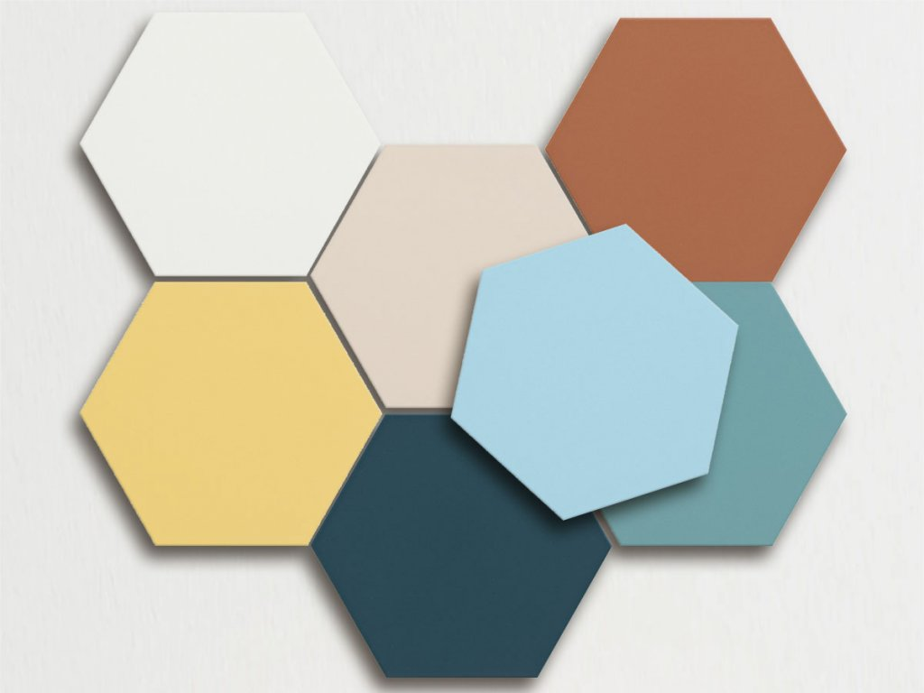 boom obklady hexagon patchwork jednobarevne sestiuhelnik 01