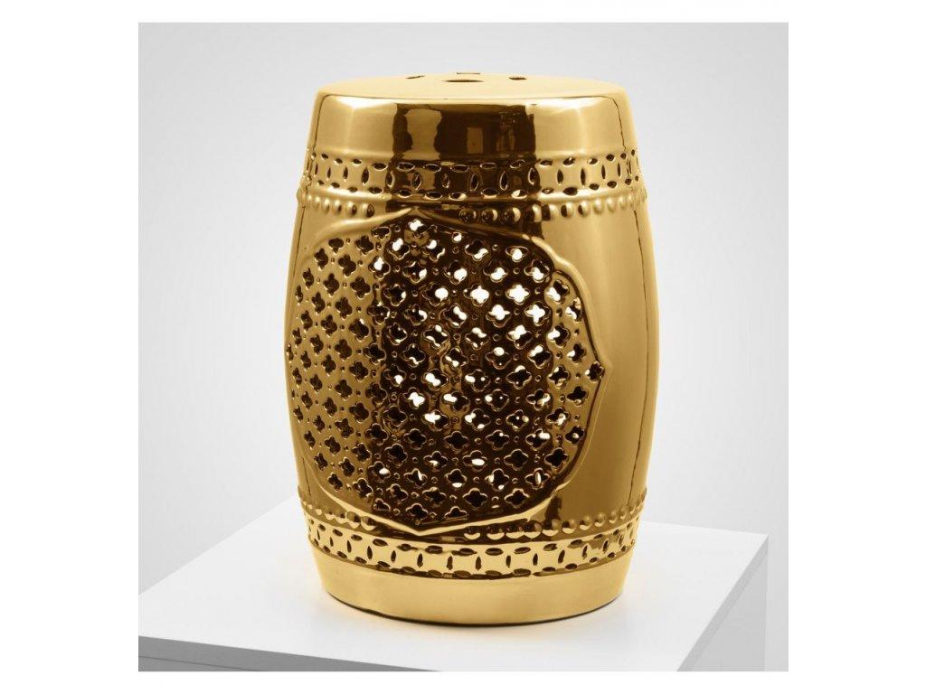 stolek keramicky zlatý leskly vinciprojekt