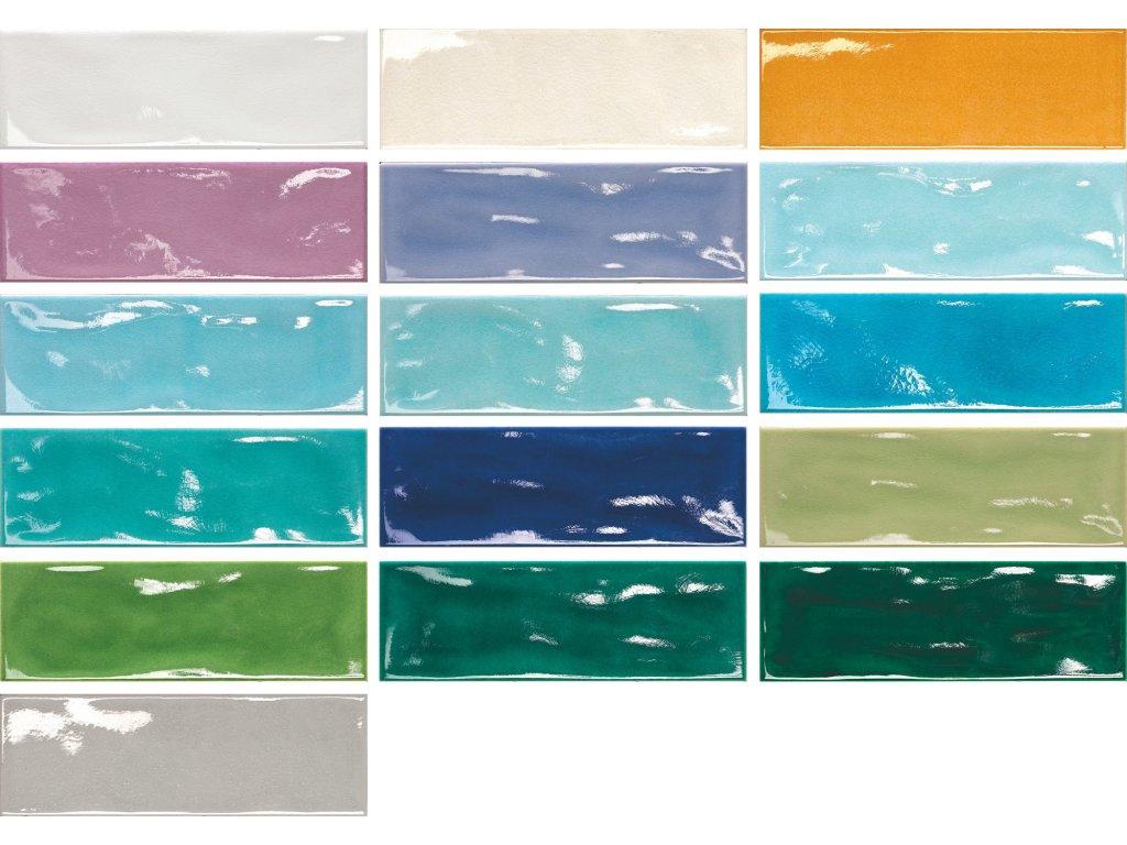 krakle 10x30 obklady do koupelny kuchyne barevne jednobarevne