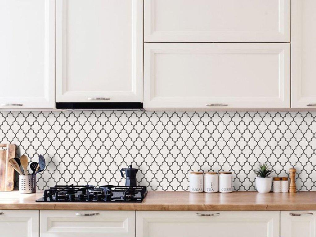 mozaika arabeska dover pure white bila lesk 01