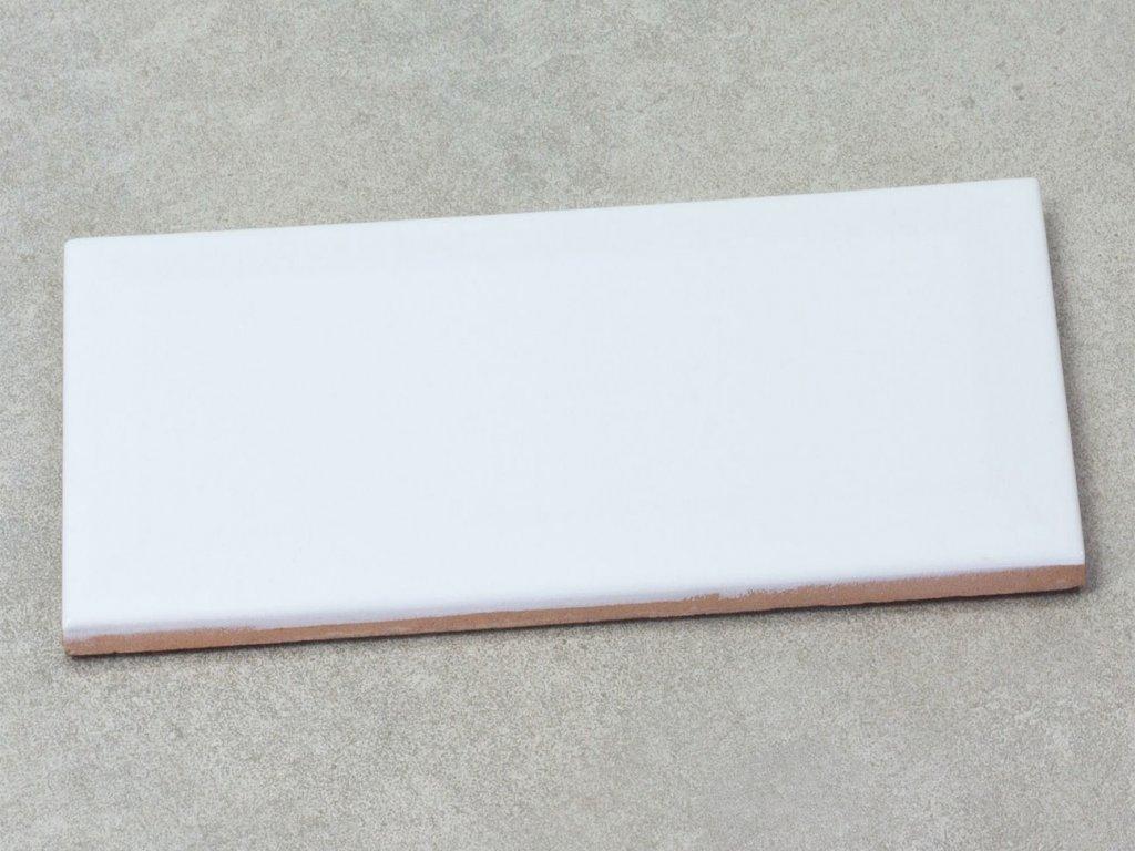 biselados branco brillo obklady obdelnik bile 10x20 lesk