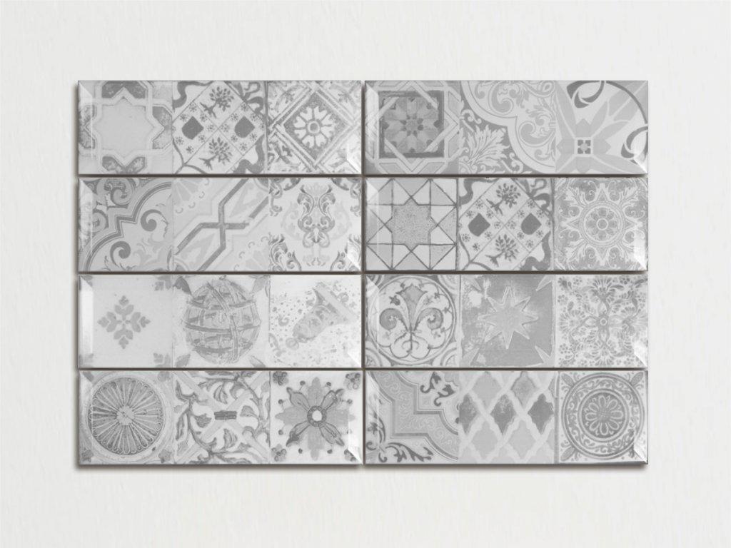 antique gris 10x30 spanelske obklady dekory sede 01