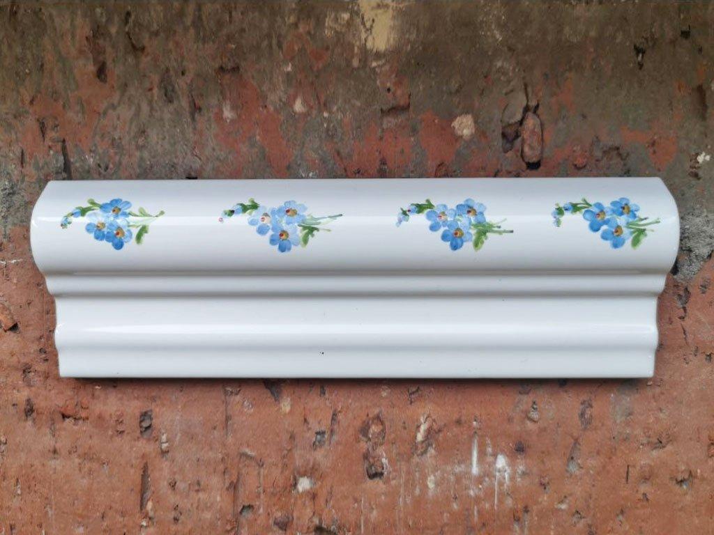 antic obklady dekor malovane handmade bombabato listela kvetiny
