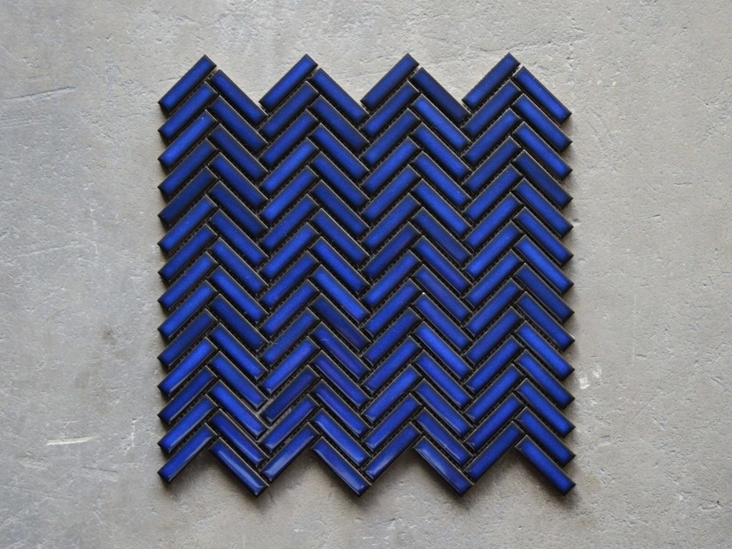 malla chewron blue mozaika obdelnik rybi kost modra 03