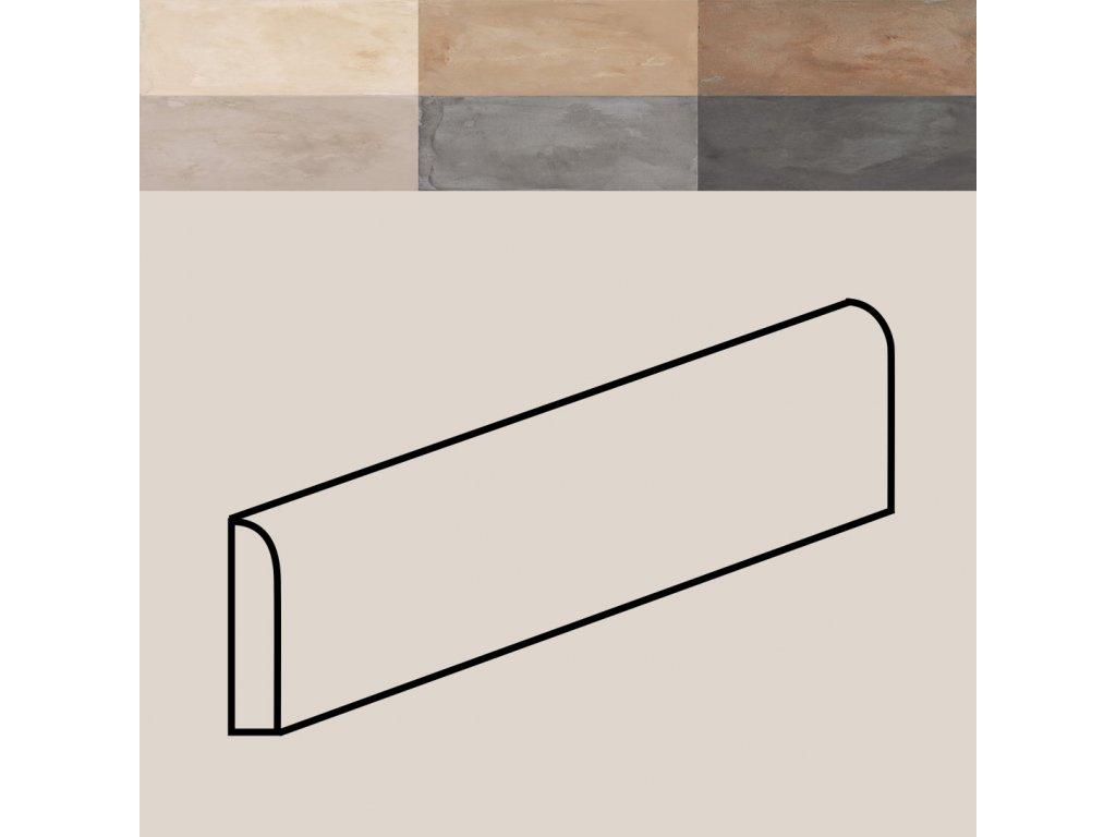 terra battiscopa sokl dlazba retro historicka dekory rustikalni 4 7x20