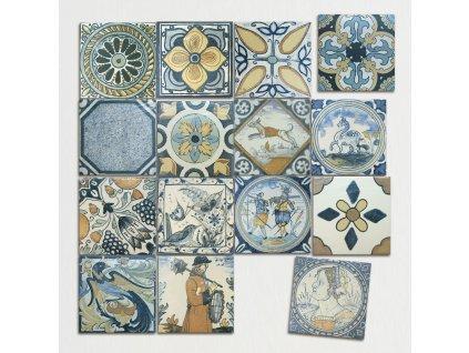 antique mate obklady do kuchyne obdelnik dekory spanelske 22