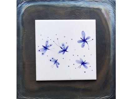 malovane obklady selske modrotisk kyticky motyli 02