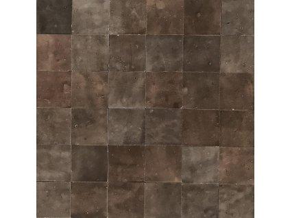 zellige obklady hlinene handmade glazovane jednobarevne hnede 10x10 03