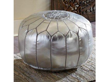 marocky put taburet orientalni stribrny vinciprojekt