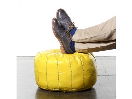 moroccan pouf yellow2