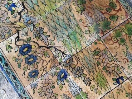 obklady rucne malovane orientalni obraz set unikat
