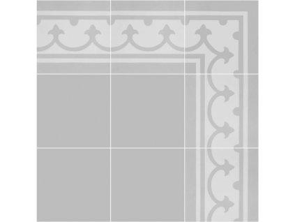 tarbes 0101 cementova dlazba bordura roh 20x20