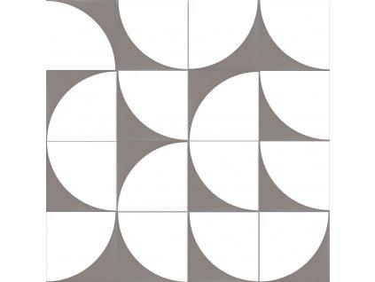Neocim Décor Lune Graphite dlažba slinutá s moderním hnědým dekorem 20x20