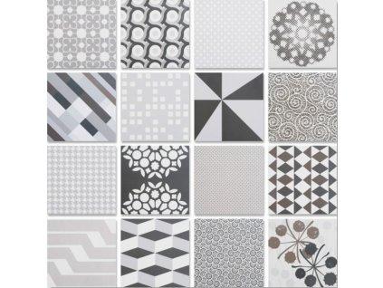 Neocim Studio Patchwork S01 20x20 dlažba slinutá mix dekorů