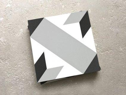 neocim classic dlazba odolna 20x20 dekor historicka optique titane 03