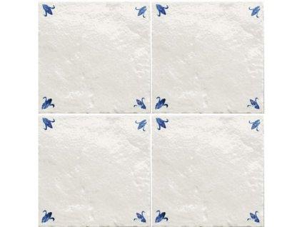 tonalite provenzale decoro boccioli bleu 15x15