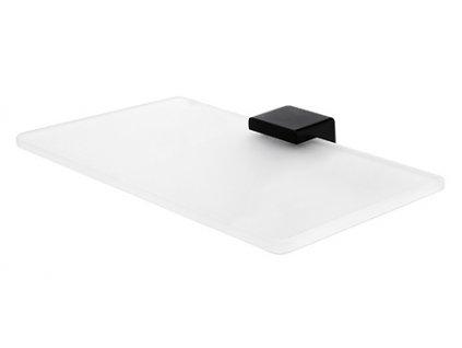kibo cerne sklenena police 20 cm