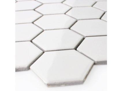 raw decor mozaika hexagon bila mat