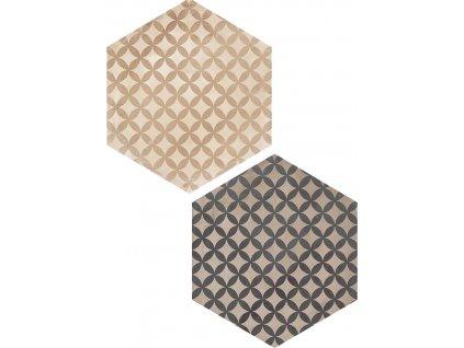 Hexagonální dlažba Marca Corona Terra Astro vers. C 26x21,6 cm