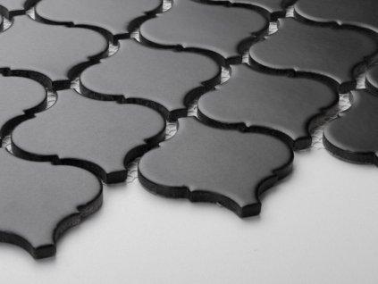 arabeska mozaika na siti velka matna cerna