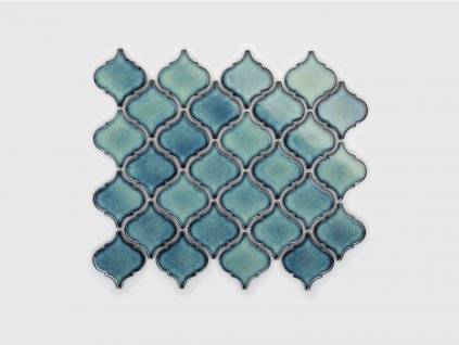 arabeska mozaika stredni morska modra lesk 01