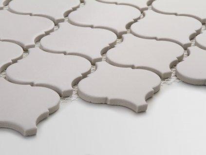 arabeska mozaika na siti velka matna svetle seda