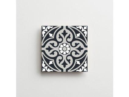 element dlazba obklady dekory cerno bile modre retro historicka arabesque