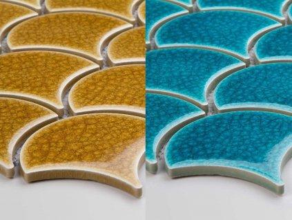 mozaika rybi supina krakelovana na siti
