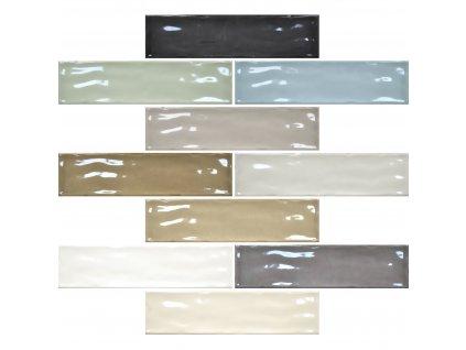 viena obklady obdelnik jednobarevne vzory reliefni retro