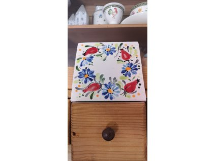 obklad selsky dekor rucni malba chrpa sipek vinci obklady