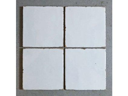Forli Bianco lesklý bílý postaršený obklad 15x15