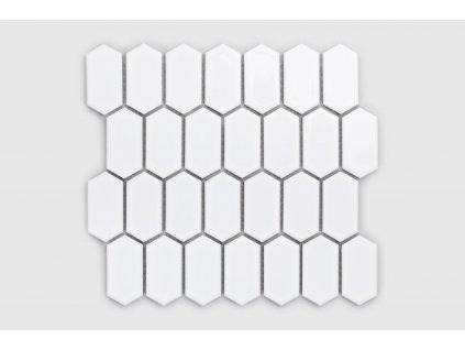Raw decor mozaika hexagonum bílá lesklá 3