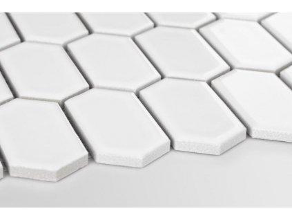 mozaika hexagon podlouhly sestiuhelnik bila lesk 01