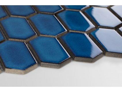 mozaika hexagon podlouhly sestiuhelnik modra lesk 01
