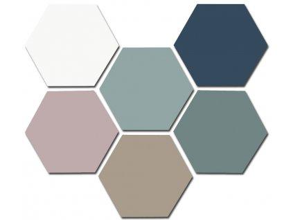 good vibes dlazba obklady hexagonalni jednobarevne