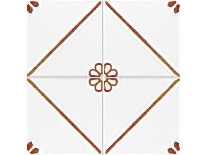 formelle obklady bile reliefni vintage kvetinove hnede 01